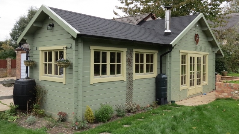 Bespoke Cabin Sarah installed by Perfect Cabins July 2011