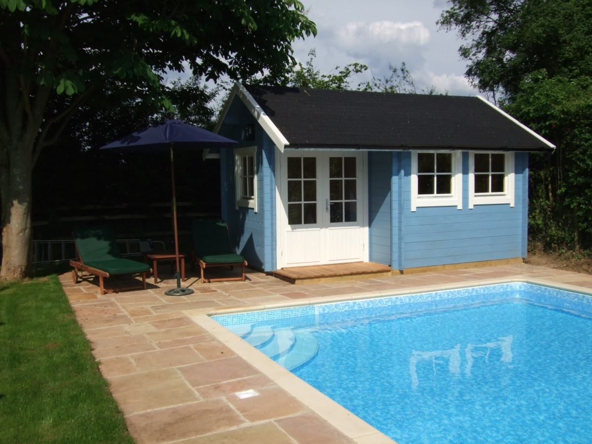 Newbury Cottage 4.5m x 3m installed by Perfect Cabins in May 2008