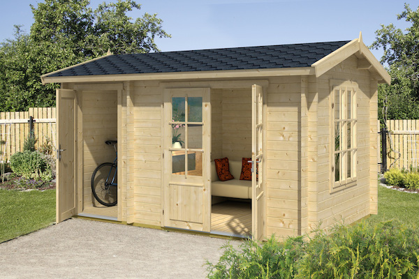 wrexham 1 log cabin x tall office shed cabins double glazed ebay. Black Bedroom Furniture Sets. Home Design Ideas